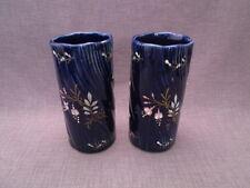 Paire de vases rouleau céramique emaillée nap III