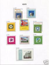 s1745) EESTI ESTONIA 2007 MNH** year sets 20v + 3S/S