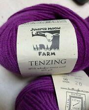 Juniper Moon Farm yarn, Tenzing yarn, 06 Purple, set of 8