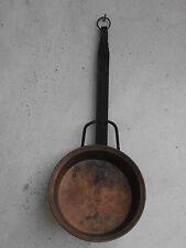 ** Vecchia pentola teglia in rame 19.5 x 4.5cm per 600 gr old copper pot **