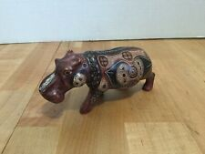 Hippo Soapstone 00004000  ? Kisii Stone ? figurine Signed m. gait 96