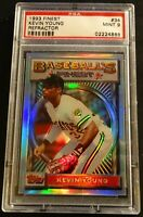 1993 KEVIN YOUNG TOPPS FINEST REFRACTOR #34 PSA 9 PIRATES POP 72 (034)