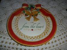 "Fitz And Floyd Holiday Cookie Platter ""From The Heart"""