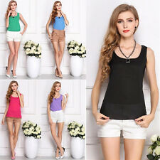 New Fashion Women's Summer Casual Chiffon Vest Tops Tank Sleeveless Shirt Blouse