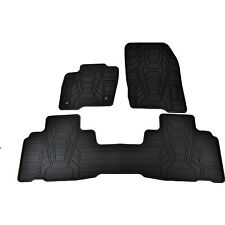 OEM NEW 2015-2017 Ford Edge Black Rubber All Weather Floor Mat Set FT4Z5813300CA