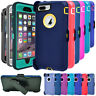 For iPhone 6 6s 7 8 Plus Shockproof Case Cover with Built in Screen & Belt Clip