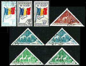 TSCHAD 1960/61: Flagge, Transportwesen ° (F720)
