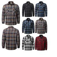 FashionOutfit Men's Casual Button Down Chest Pockets Plaid Flannel Shirt Jacket