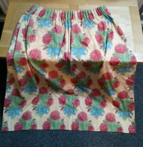 Pair Vintage Fully  Lined Pencil Pleat Dahlia Floral Curtains  W28 L:50