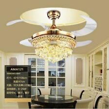 New 42 Inch LED Crystal Chandelier Fan Lights Fan with Remote Control 85-240V