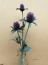 Artificial Thistle Bud flower Stem purple Lavender Spray With 3 Heads small