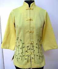 VINTAGE 1960s LADIES ASIAN CHINESE STYLE JACKET DAEL'S CASUALS HAWAII YELLOW 2 4