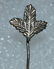 Hunting Hiking Pine Branch vtg 70s hat lapel pin badge