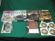 Lot of 4 Vintage PC Games Flying Heroes Myst Riven  Wild Africa