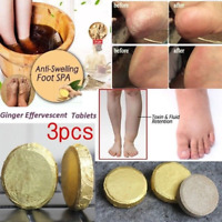 3Pcs Anti-Swelling Foot SPA Ginger Soak Effervescent Tablets Treatment Health