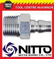 "NITTO MALE COUPLING AIR FITTING WITH 1/2"" BSP MALE THREAD (40PM) – JAPAN MADE"