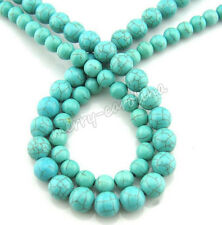 100Pcs Natural Turquoise Gemstone Spacer Loose Beads Bracelet Craft Findings 4mm