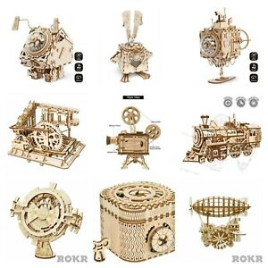ROKR - Choose from large range of Mechanical Wooden Model Kits no glue required