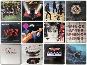 100 LP JOB LOT Vinyl Record Collection 60s 70s & 80s ROCK, PROG, POP & MORE