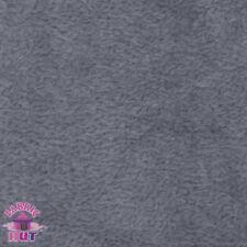 Whisper Fleece Solid Grey Polyester Fleece Fabric by the Yard