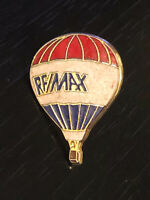 Vintage Collectible Re/max Hot Air Balloon Colorful Metal Pin Back Lapel Pin