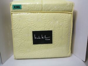 Nicole Miller Home 3 PC KING Quilt Set Yellow NEW IN PACKAGE