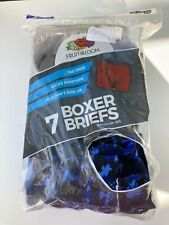 Boys Fruit of the Loom 6 Pack Regular Leg Tag-Free Boxer Briefs - XL (18-20)