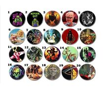 Lot 20 x HORROR buttons (pins, badges, patch, movie, vintage, slasher, cthulhu)