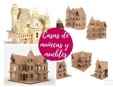 100+ Doll House Laser Cut Vector DXF CDR CNC 3D Puzzle Plan Build Make Wood Kit
