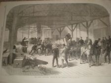 Dublin Exhibition arrival of the Armstrong Guns 1865 print ref T