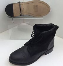 TopShop Women's Ankle Boots 100% Leather Lace Up Shoes