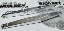 CNC Aluminum Rear Trailing Arm (2) Silver For Losi 1/6 Super Baja Rey 2.0