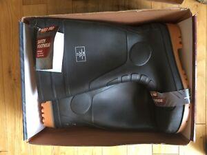 BUILD2PRO Safety Steel Toe / Midsole Cap Wellington Boots UK Size 11 Brand New