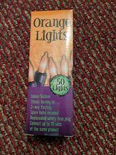 50 ct. Orange Mini Indoor / Outdoor Halloween String Lights Off Black Wire
