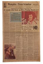 Elvis Presley Memphis Death Newspaper August 16, 1977