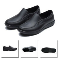 Mens Slip On Loafers Flat Work Restaurant Kitchen Shoes Size Water Oil Resistant
