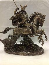 Odin - Norse God riding Sleipnir Statue Figure Sculpture Cold Cast Bronze