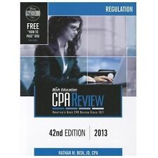Bisk CPA Review: Regulation, 42nd Edition, 2013 (Comprehensive CPA Exam Review R