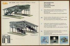 FALLER HO scale ~ 'COVERED FOOTBRIDGE with PLATFORM' - plastic model kit #131279