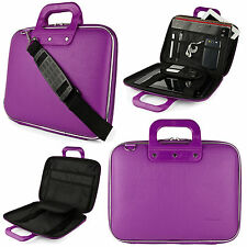 "10"" Purple PU Leather Tablet Sleeve Pouch Bag Case Portfolio Bag for iPad Air"