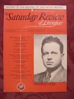 Saturday Review June 8 1940 BENJAMIN APPEL VAN WYCK BROOKS