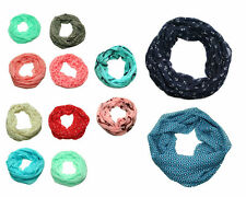 leichter Marine Anker Blumen Sommer Loopschal mit Seide & Baumwolle Loop Schal