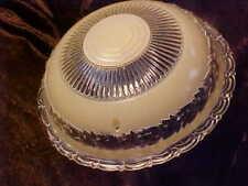 Vintage Glass Light Fixture Cover Chandelier FANCY 3 DIMENSIONAL & BEAUTIFUL!