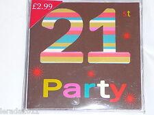 21ST BIRTHDAY PARTY INVITES INVITATIONS CELEBRATION PARTY UNISEX  PACK 10