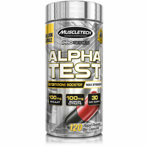 MuscleTech Pro Series Alpha Test 120 Capsules Rapid Testo Booster USA**