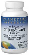 St. John's Wort Ext 600mg Full Spectrum, 120 tablets, Planetary Herbals