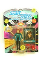 "NEW *Sealed* STAR TREK TNG Playmates 5"" Figure DR BEVERLY CRUSHER Skybox Card"
