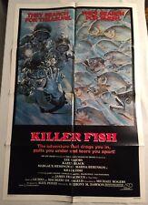 1979 Killer Fish Movie Poster Horror Original 1-Sheet 27x41 Karen Black Piranha