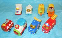 VTech Go! Go! Smart Wheels Lot of 8 Press and Race Fire Truck and more
