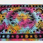 Couvre-lit tissu déco Rainbow modèle Sun Tapisserie Décoration murale